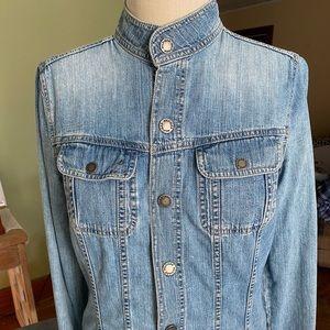 Mandarin Collar Jean Jacket